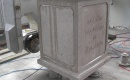 CNC inscription chiseling into stone